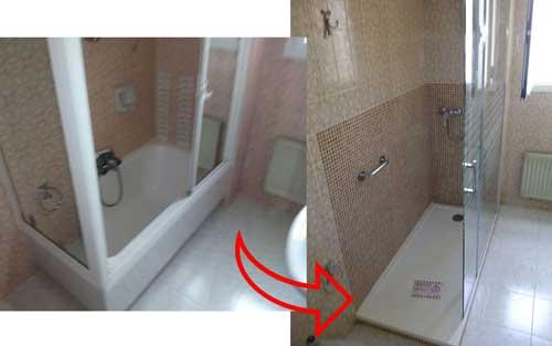 Cambiar bañera por ducha en Lucena